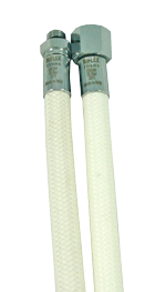 MIFLEX Xtreme braided WHITE Regulator hoses