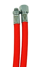 MIFLEX Xtreme braided RED Regulator hoses